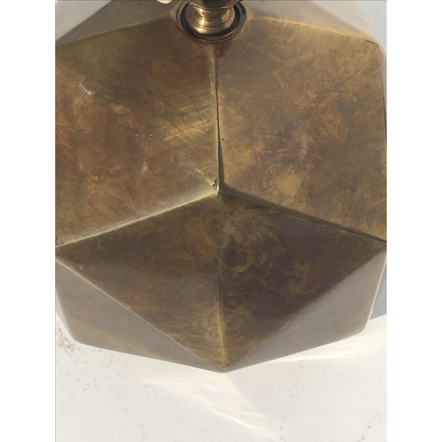 Bronzed Geometrical Lamp by Westwood - Image 7 of 9
