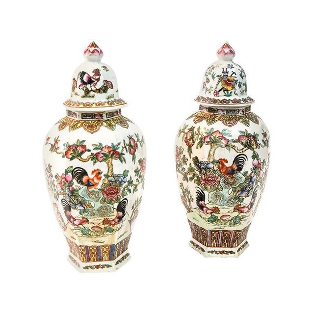 White Canton Porcelain Jars, circa 1950 - A Pair For Sale - Image 8 of 8