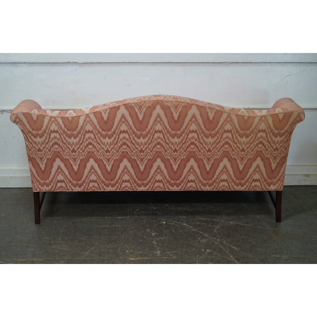 Southwood Mahogany Chippendale Style Flame Stitch Sofa - Image 4 of 10
