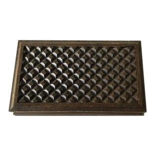 Vintage Carved Teak Wood Box For Sale