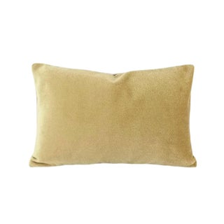 Holly Hunt Aqua Velvet Sand Lumbar Pillow Cover For Sale