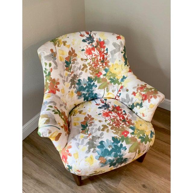 Arhaus Modern Arhaus Floral Chair For Sale - Image 4 of 5