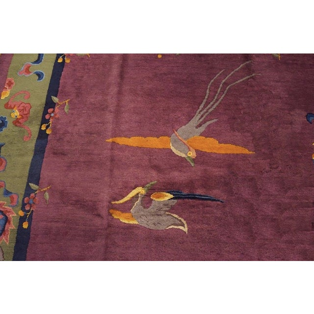 """Antique Chinese Art Deco Rugs 9'2"""" X 11'8"""" For Sale - Image 9 of 11"""