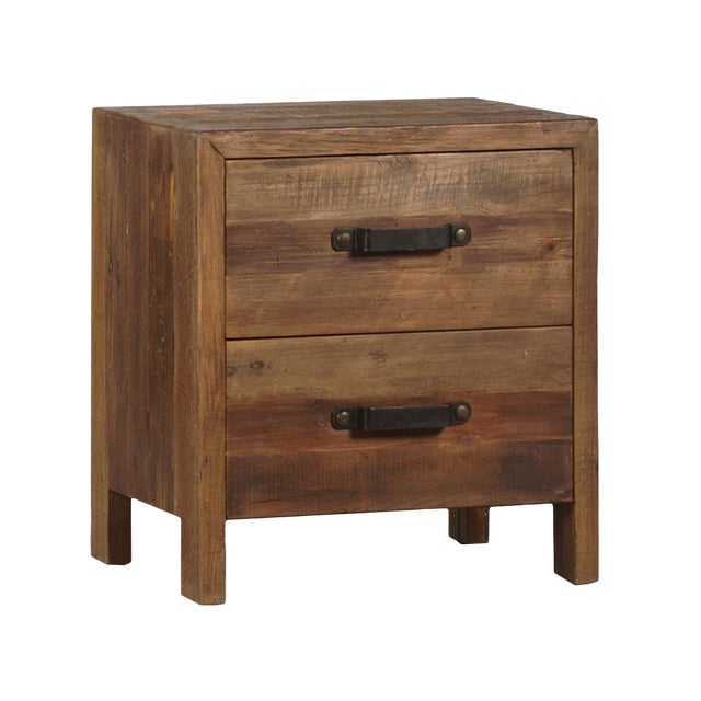 Reclaimed Wood Bedside Cabinet Chairish