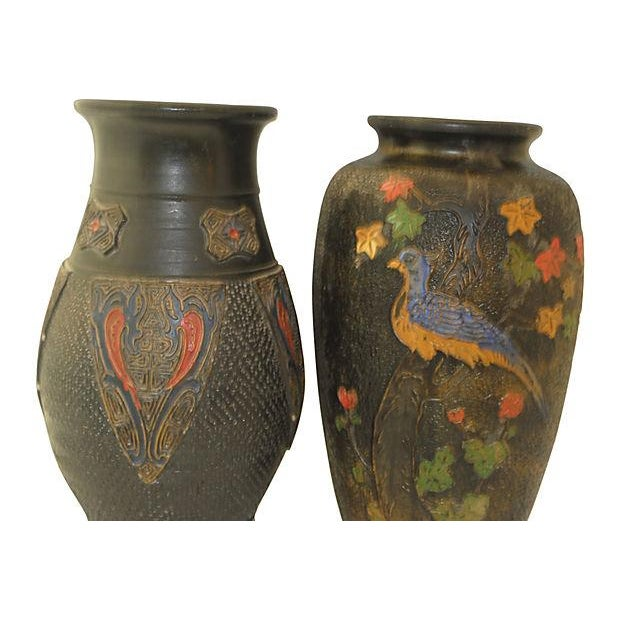 Japanese Pottery Vases Pair Chairish