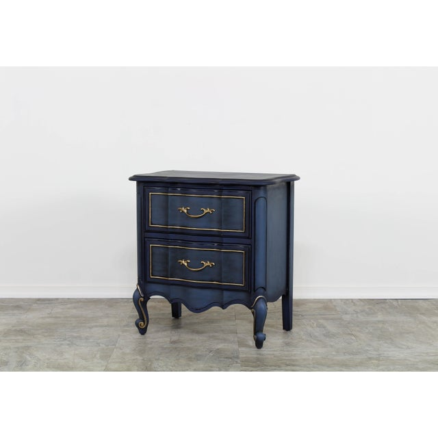 1960s Blue French Provincial Nightstands - a Pair For Sale - Image 4 of 10