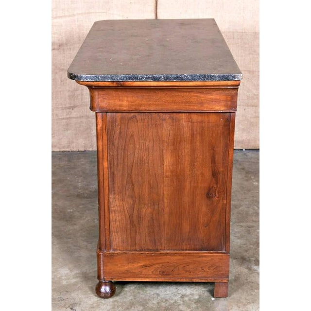 Early 19th Century 19th Century French Restauration Period Commode With Saint Anne Marble Top For Sale - Image 5 of 11
