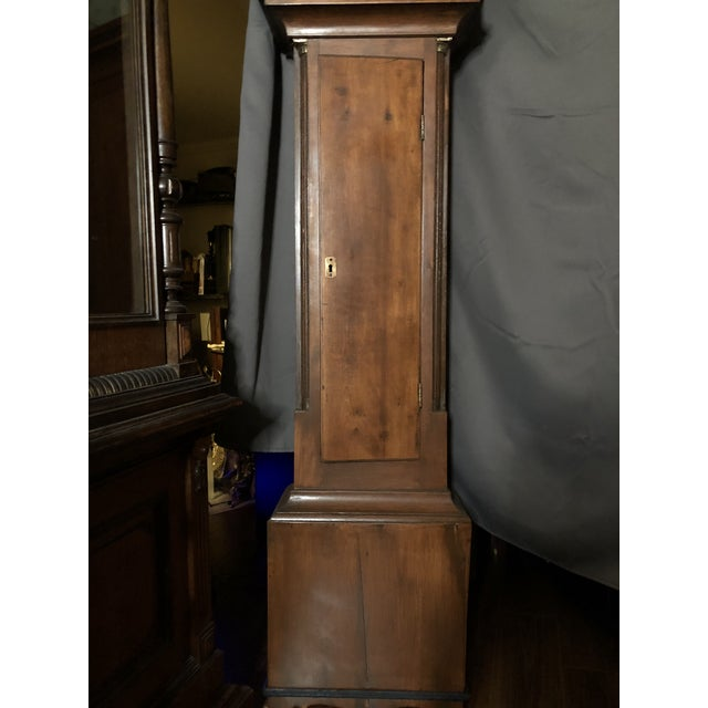 Antique Early American Grandfather Clock Attributed to Silas Parsons For Sale - Image 4 of 10