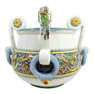 Large Italian Caltagirone Ceramic Jardiniere or Planter For Sale