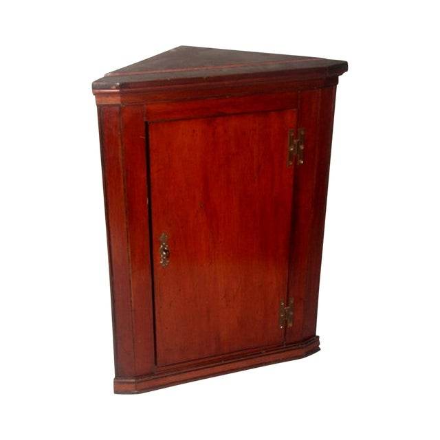 Hand Made C.1875 English Corner Mahogany Cabinet For Sale