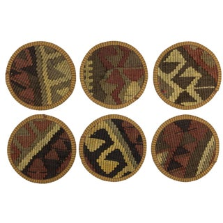 Kilim Coasters Set of 6 | Basmacılar For Sale