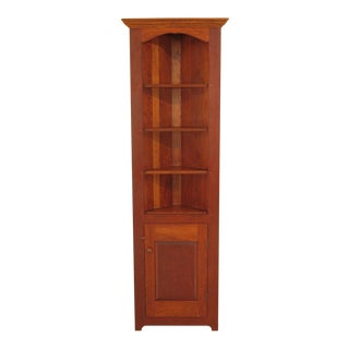 1990s Shaker Solid Cherry Corner Cabinet For Sale