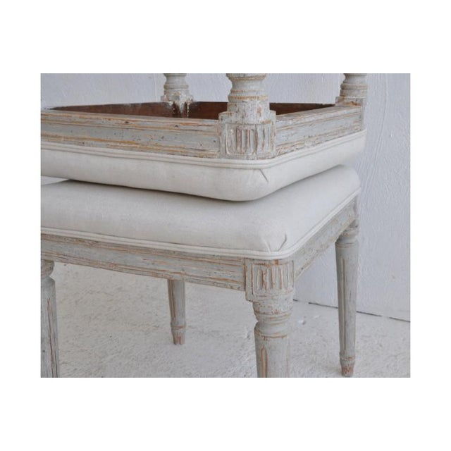 19th Century Pair of Swedish Late Gustavian Stools For Sale - Image 4 of 7