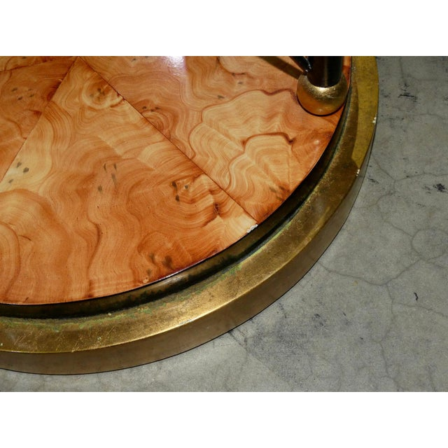 1990s Art Deco Glass Top Center Table, Accent Table, or Dining Table For Sale - Image 5 of 7