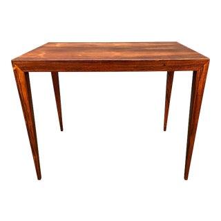 Vintage Danish Mid Century Modern Rosewood End Table by Severin Hansen Jr. For Sale