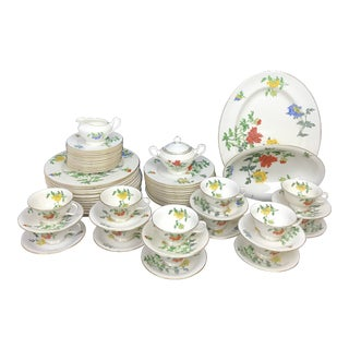 Castleton Malin Floral China Service for 12- 65 Pc. Set For Sale