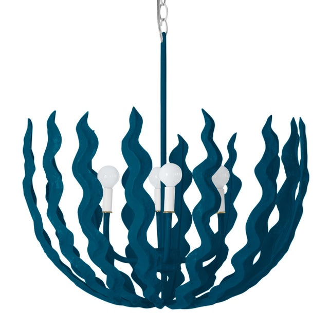 Contemporary Stray Dog Designs for Chairish Chucho Chandelier, Deep Blue For Sale - Image 3 of 3