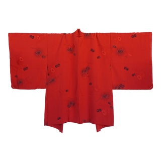 1950's Unused Japanese Silk Kimono Haori Jacket For Sale