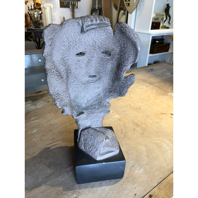 Neoclassical Hellenic Style Plaster Bust on Stand For Sale - Image 3 of 13