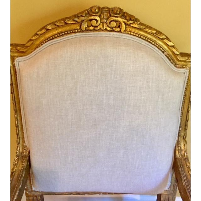 Mid 19th Century 19th Century French Carved Gilt Arm Chairs - a Pair For Sale - Image 5 of 13