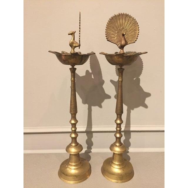 20th Century Vintage Brass Flamingo Pillar For Sale - Image 4 of 11