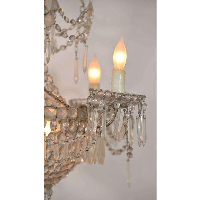 Empire Seven-Light Crystal Chandelier For Sale - Image 3 of 10