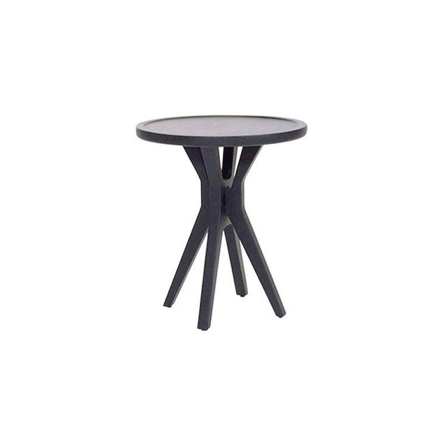 Wood Boton Two Side Table Conacaste Wood With Black Stain For Sale - Image 7 of 7