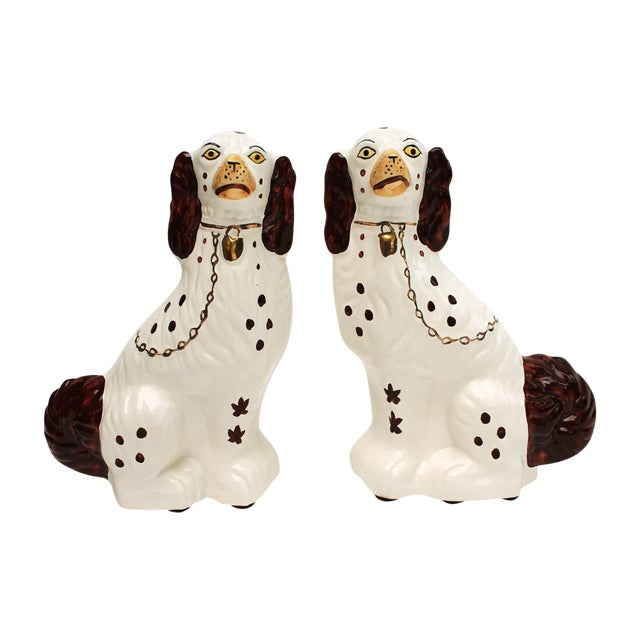 Staffordshire-Style Ceramic Dogs - A Pair - Image 1 of 4