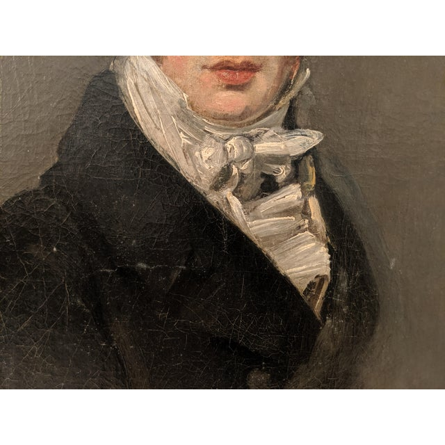 English Manner of John Constable, RA (British 1776-1837) Self Portrait Oil Painting on Canvas For Sale - Image 3 of 7