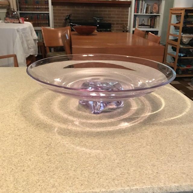 Hand Blown Purple Art Glass Decorative Bowl - Image 10 of 10