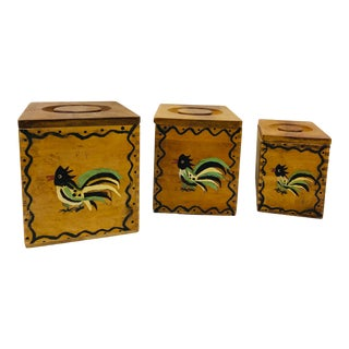 Vintage Handmade Kitchen Countertop Boxes For Sale