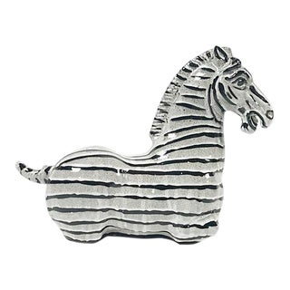 Seated Ceramic Zebra