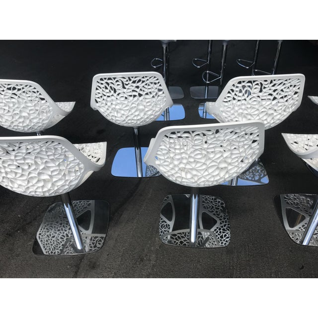 Italian Casprini White Dining Chairs - Set of 8 For Sale - Image 3 of 11