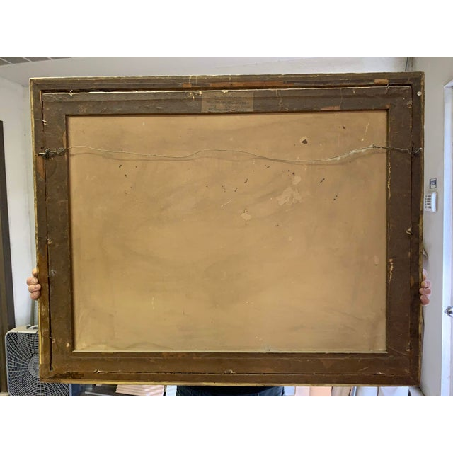 Antique French Lithograph in Gold Leaf Frame For Sale - Image 12 of 13