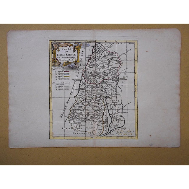 Realism Antique 18th C. Map-Judea For Sale - Image 3 of 3
