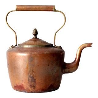 Vintage Copper Kettle Teapot For Sale