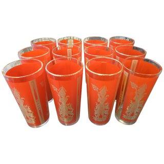 "Set of 12 ""Thai Princess"" Mid-Century Cocktail Glasses For Sale"