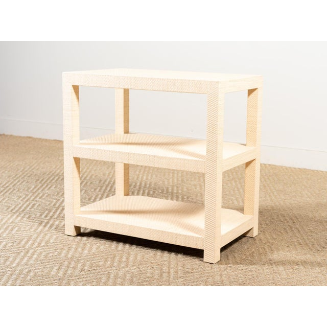 Modern Grasscloth Side Table For Sale - Image 6 of 6