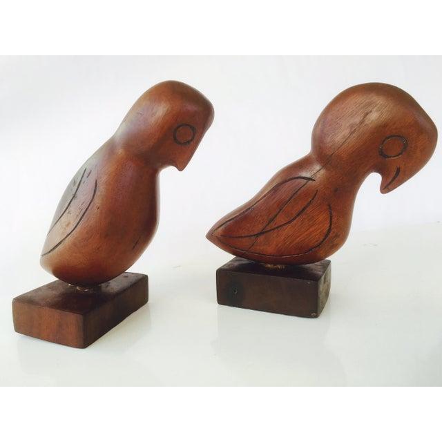 Mid-Century Teak Love Birds - A Pair - Image 6 of 7