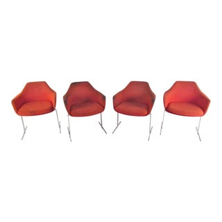 Vintage Modern Knoll Style Conference Chairs - Set of 4 For Sale