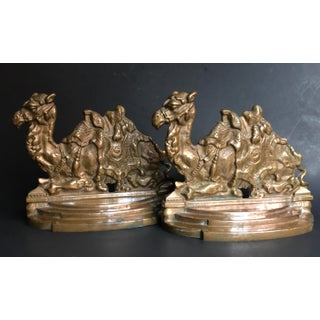 Vintage Bronze Seated Camel Bookends - a Pair Preview