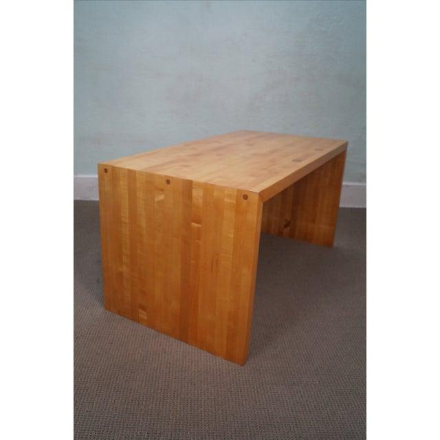 Mid-Century Parsons Slab Desk For Sale In Philadelphia - Image 6 of 10