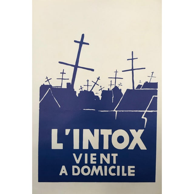 1960s 1968 Original French Riot Poster - l'Intox Vient a Domicile For Sale - Image 5 of 5