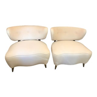 Super Chic Mid-Century Modern Lounge Club Chairs - a Pair For Sale
