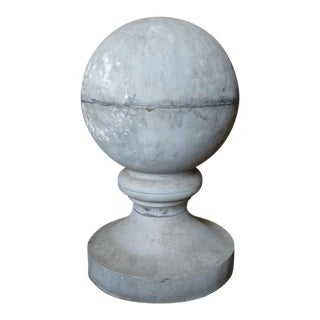 19th Century Zinc Roof Finial or Ornament For Sale