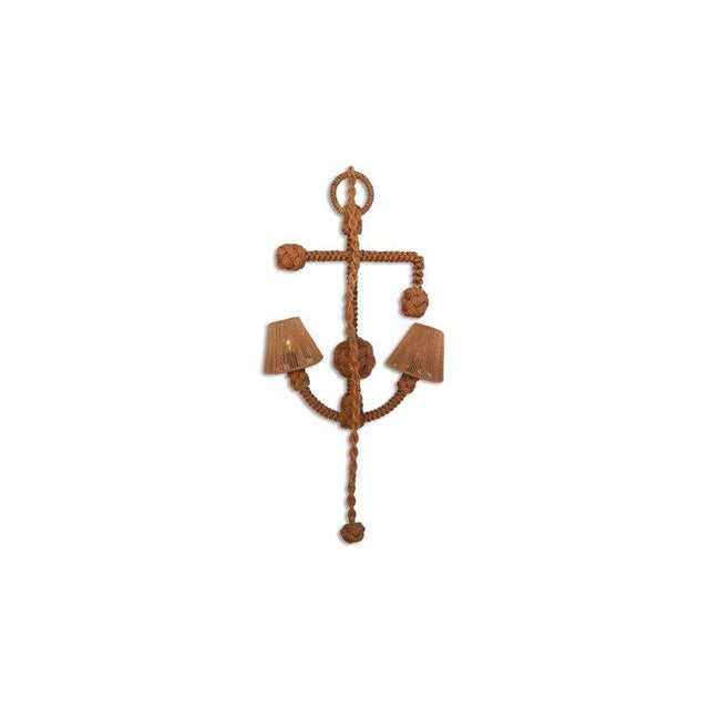 Textile Audoux Minet 'Anchor' Rope Sconce For Sale - Image 7 of 10