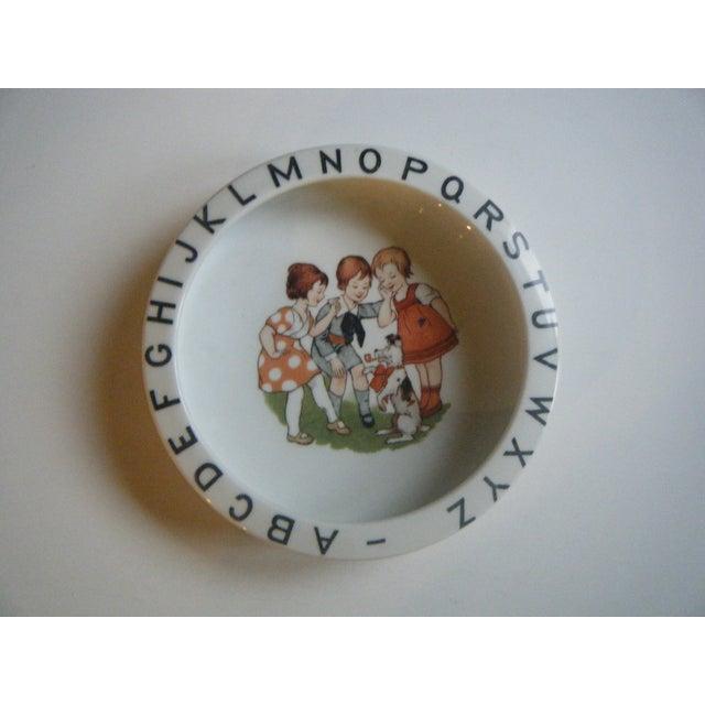 Vintage 1940s Children's Alphabet Bowl - Image 2 of 6