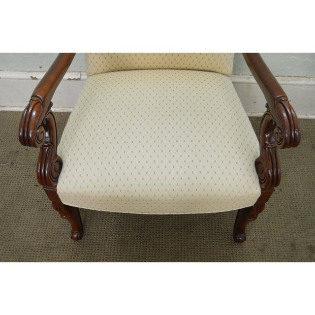 Hickory Chair Solid Mahogany Frame Empire Style Arm Chair - Image 5 of 10