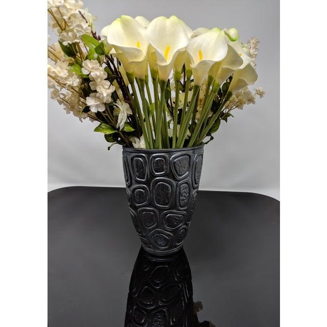 Jonathan Adler Windowpane Brutalist Vase For Sale - Image 9 of 12