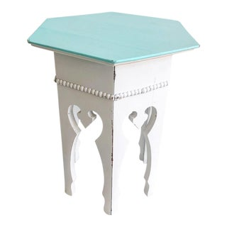 Moroccan Style Wooden Carved Side Table
